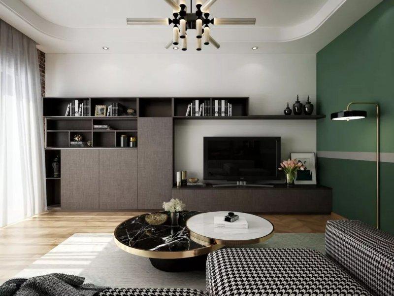家裝風格要統一 意陸櫥柜精選30套帶收納的電視墻圖片