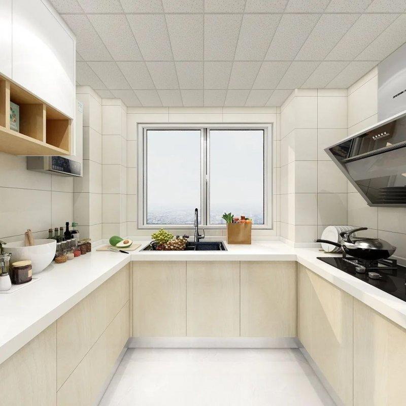 欧普厨卫图片 4u型厨房橱柜装修效果图