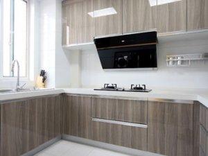 现代风格不锈钢整体橱柜家装效果图    烤漆橱柜图片