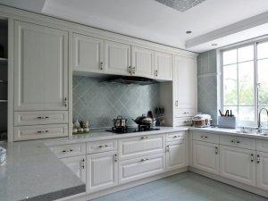 白色整体橱柜家装效果图 大厨房橱柜图片