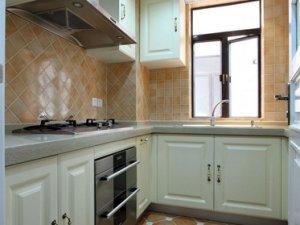 小厨房橱柜装修效果图 白色橱柜图片