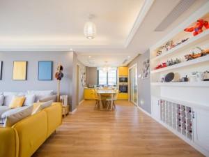 简约风格定制黄色橱柜装修效果图 亮眼的时尚生活
