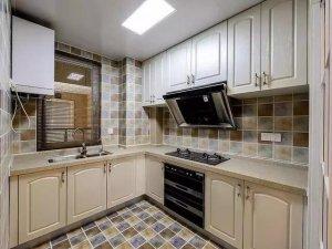 美式风格厨房设计效果图 整体定制橱柜图片