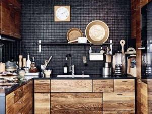 后现代木质橱柜设计效果图 小厨房装修图片