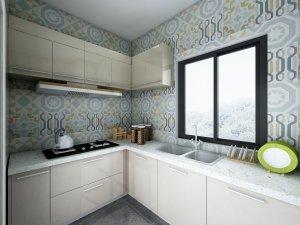 85平现代风厨房装修设计图 都市白领的最爱