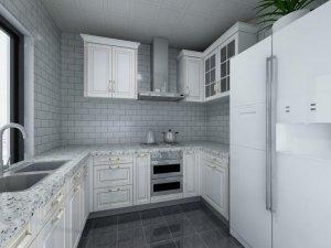 140平现代简约风厨房设计效果图 整体橱柜图片