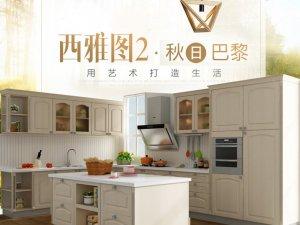 金牌厨柜秋日巴黎系列设计效果图 欧式风格橱柜设计图