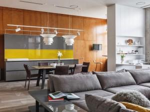 现代时尚风格家装效果图 开放式厨房橱柜设计图