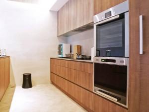 原木色厨房橱柜设计效果图大全 二字型橱柜设计图