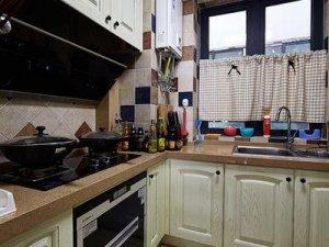 美式家装小厨房效果图大全 小户型厨房设计图
