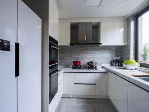 现代简约风厨房装修效果图 白色烤漆橱柜设计图大全