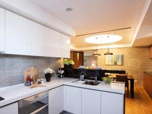 开放式小厨房装修效果图 白色实用型橱柜设计图