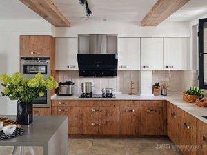 捷西橱柜 日系木质厨房效果图