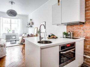 小户型公寓简易厨房效果图 超小型橱柜设计图