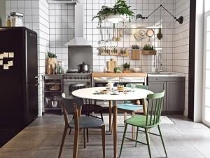 小户型厨房装修效果图 开放式厨房书柜效果图