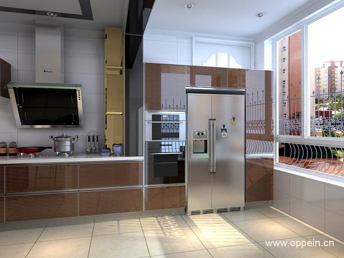 欧派现代风格整体橱柜产品效果图展示