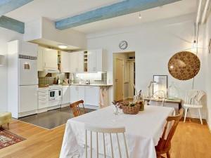 小公寓开放式厨房效果图 定制橱柜效果图