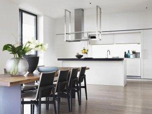 隐藏式橱柜装修效果图 厨房岛台设计图片