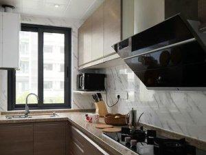 新中式厨房装修效果图 实木橱柜设计图片