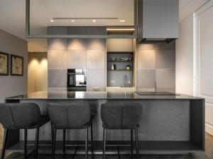 时尚大气橱柜装修效果图 小户型开放式厨房图片