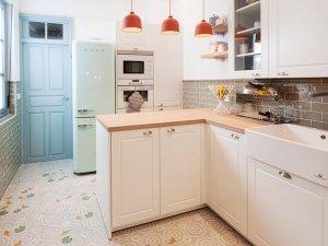 清爽L型厨房橱柜图片大全 橱柜效果图