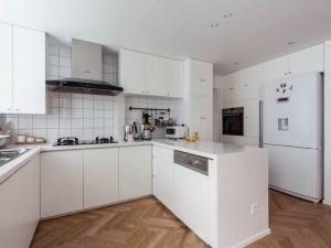 现代风白色厨房设计图大全 橱柜效果图
