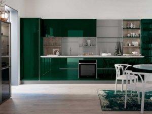 威乃达橱柜图片 墨绿色橱柜图片
