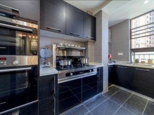 现代黑色厨房设计图大全 橱柜效果图