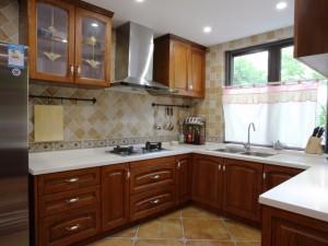 美式大厨房装修效果图 橱柜效果图