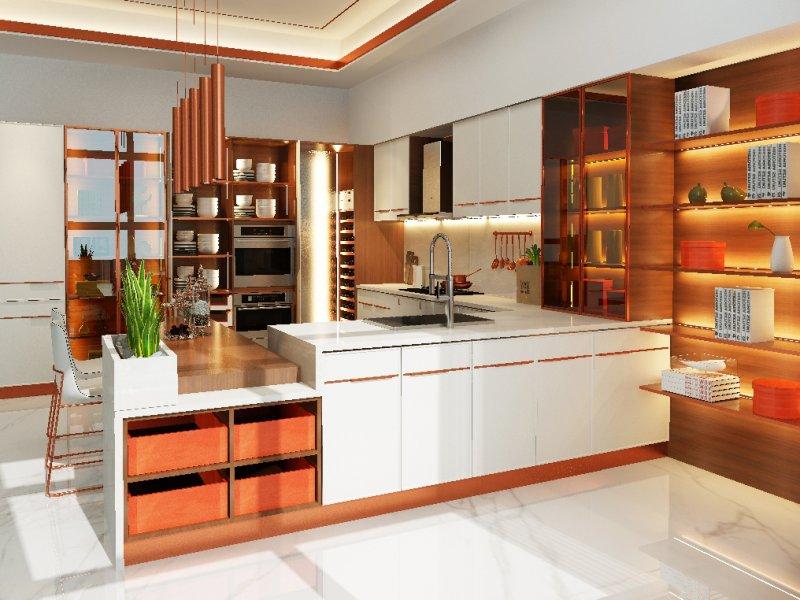 丽博橱柜全屋定制整体厨房新品—都市丽人