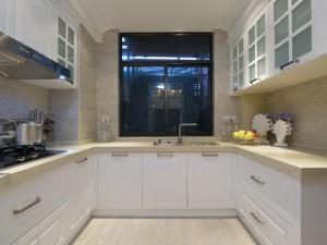 欧式大厨房橱柜效果图 白色橱柜图片