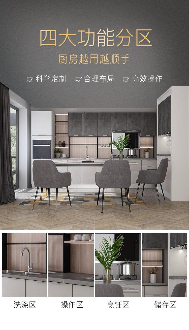 金牌厨柜效果图 现代简约厨柜阿玛尼图片
