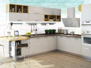 志邦厨柜效果图 现代风白色橱柜图片大全