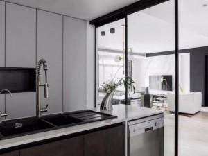 极简风橱柜图片大全 黑白橱柜效果图