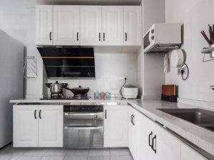 北欧风白色厨房效果图 整体橱柜图片大全