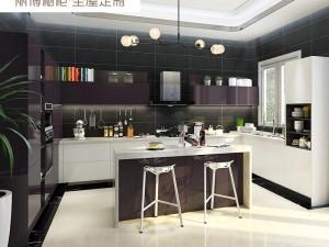 丽博整体橱柜定制厨房图片 现代风云影系列