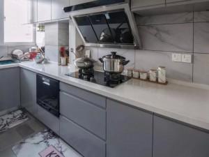 灰色厨房装修效果图大全 L型橱柜效果图