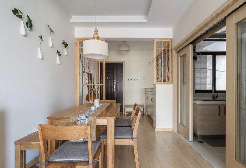 小户型厨房橱柜效果图 原木色橱柜图片