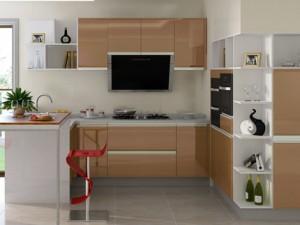 金牌厨柜效果图 华尔兹烤漆门板整体厨房厨柜图片