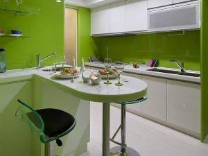 现代厨房装修效果图大全 白色橱柜效果图