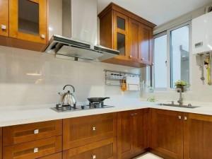 美式厨房装修效果图 L型橱柜效果图