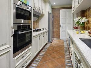 美式乡村厨房图片大全 白色橱柜效果图