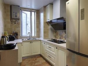 U型橱柜图片 美式厨房装修效果图