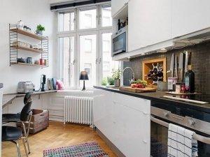 白色橱柜图片大全 北欧厨房橱柜效果图