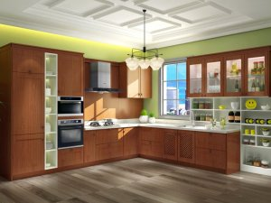 丽博橱柜图片 地中海风格厨房橱柜效果图