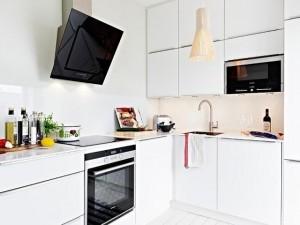 北欧风橱柜效果图 白色厨房设计图片大全