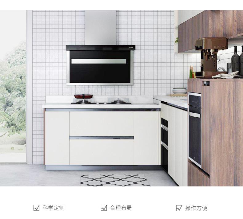 金牌厨柜效果图 简约风橱柜木森活1S系列