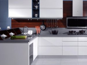金牌厨柜效果图 现代简约厨柜亚丁系列