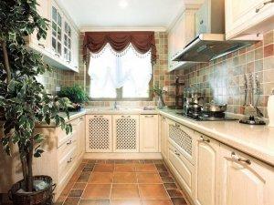 美式厨柜装修效果图 白色橱柜图片大全