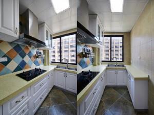 白色橱柜门图片 U型整体橱柜效果图